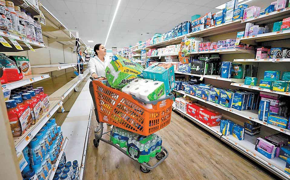 Acaparando en un supermercado