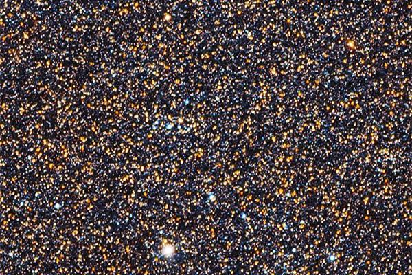 Pequeña porción de la galaxia de Andrómeda