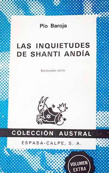 Portada de la novelaLas inquietudes de Shanti Andía, de Pío Baroja