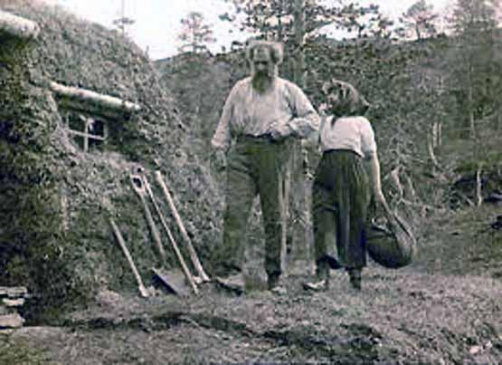 Fotograma de la película muda sobre el libro Bendición de la tierra