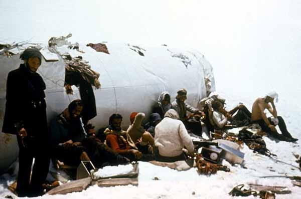 Fotografía de los verdaderos supervivientes de la tragedia de los Andes